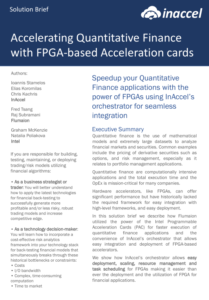 FGPA Acceleration of FinTech
